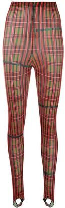 Chopova Lowena Stirrup-Cuff Checked Leggings