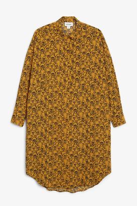 Monki Oversized midi shirt dress