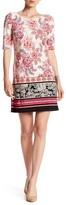 Eliza J Floral Jersey Shift Dress