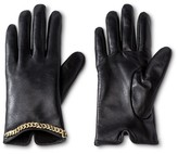 Merona Thinslate Women's Glove with Chain Detail Black