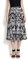modern Women's Pleated Skirt-Ink Black Print