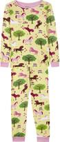 Hatley Orchard and horses print pyjama set 4-12 years