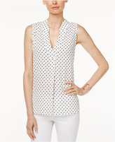 Charter Club Petite Diamond-Print Blouse, Only at Macy's