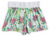 Planet Gold Girls Floral Print Shorts
