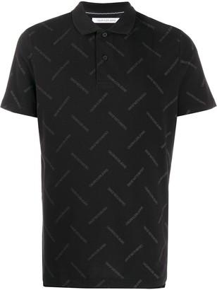Calvin Klein Jeans logo print polo shirt