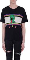 Saint Laurent Men's Graphic Cotton T-Shirt-BLACK