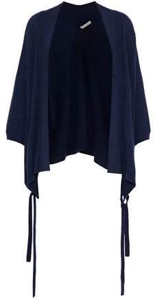Autumn Cashmere Eyelet-embellished Ribbed Cashmere Cardigan
