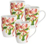 Paula Deen Christmas Wreath 11 oz. Mugs (4-Pack)