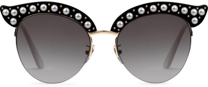 cb13c66fe59 Gucci Pearl Sunglasses - ShopStyle