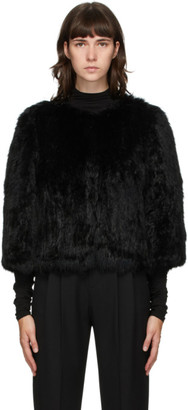 Yves Salomon Black Fur Cropped Jacket