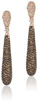 Effy Jewelry Espresso 14K Rose Gold Cognac & White Diamond Earrings