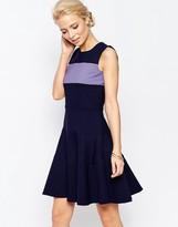 Closet London Closet A-Line Dress With Contrast Band