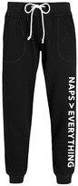 Instant Message Women's Women's Sweatpants BLACK - Black 'Naps Are Greater Than Everything' Joggers - Women & Plus