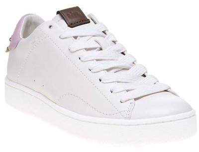 Coach New Womens White C101 Low Top Leather Trainers Running Style Lace Up