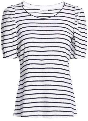 Claudie Pierlot Striped Linen-Blend Knit Top