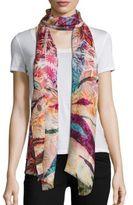 Bindya Gypsy-Print Cashmere & Silk Scarf