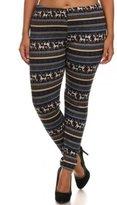 ShoSho Women's Plus Size Festive Print Soft Faux Fur Lined Leggings-XL/2XL