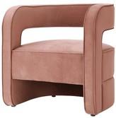 Nicole Miller Jamal Velvet Barrel Chair Upholstery Color: Blush