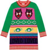 Gucci Children's intarsia wool sweater dress