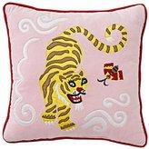 Cherry Blossom Tiger Throw Pillow
