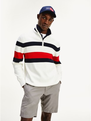 Tommy Hilfiger Relaxed Fit Organic Cotton Mockneck Sweater