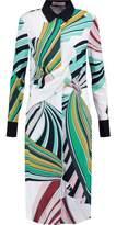 Emilio Pucci Draped Printed Crepe Dress