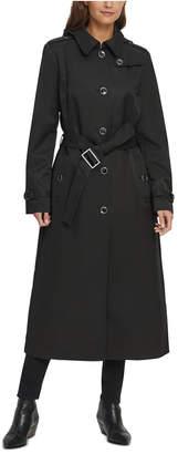 DKNY Belted Maxi Raincoat