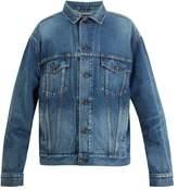 BALENCIAGA BB-embroidered denim jacket