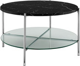 Hewson 32In Glam Round Faux Marble Coffee Table