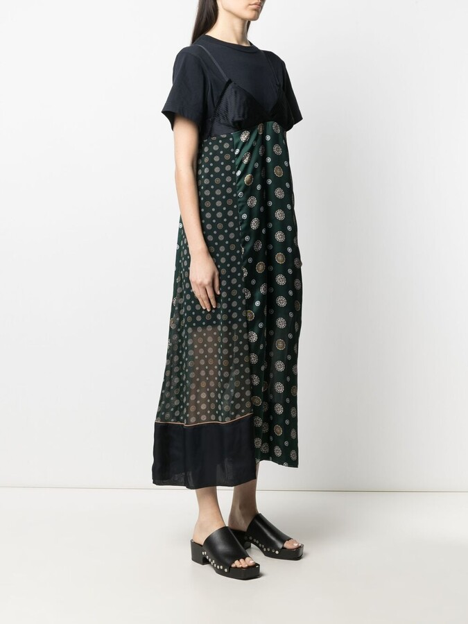 Thumbnail for your product : Sacai Layered-Look Shift Dress
