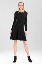 Josie Natori Textured Knit Jacquard Dress