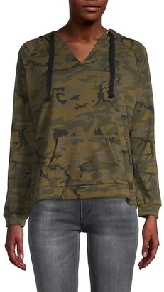 For The Republic Camo-Print Cotton-Blend Hoodie Jacket