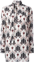 Valentino heart and dagger shirt - women - Silk - 40