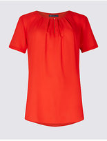 M&S Collection Round Neck Short Sleeve Shell Top