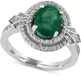 Effy Emerald (1-1/2 ct. t.w.) and Diamond (1/3 ct. t.w.) Ring in 14k White Gold