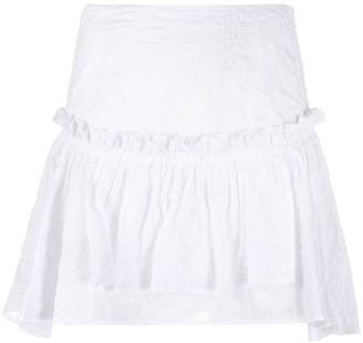 Wandering Ruffled Mini Skirt