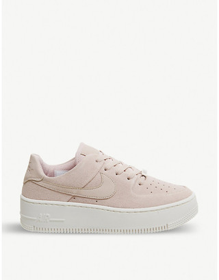 Nike Force 1 Sage suede trainers