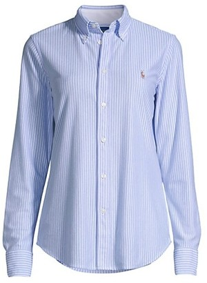 Classic Striped Button-Front Shirt