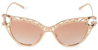 Dolce & Gabbana 54MM Pink Goldtone Cat Eye Sunglasses