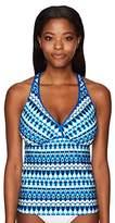 Jantzen Women's Tie Dye Geo Stripe D/DD Cup Tankini Top