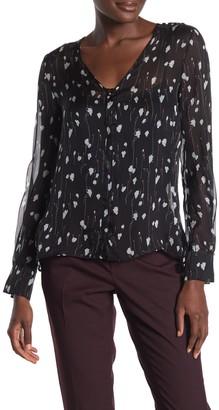 HUGO Elni Long Sleeve Silk Blouse