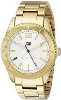 Tommy Hilfiger Women's 1781268 Casual Sport Analog Display Quartz Gold Watch