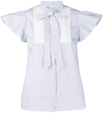 RED Valentino Striped Cap Sleeves Blouse