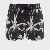 Paul Smith Men's Black 'Ink Palm' Short Sport Swim Shorts