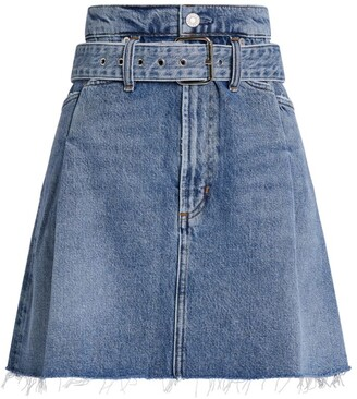AGOLDE Reworked 90's Denim Mini Skirt