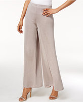 MSK Metallic Wide-Leg Pants