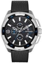 Diesel 'Heavyweight' Chronograph Leather Strap Watch, 50mm