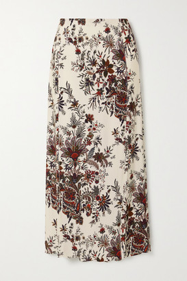 Paco Rabanne Paisley-print Stretch-jersey Midi Skirt - Ivory
