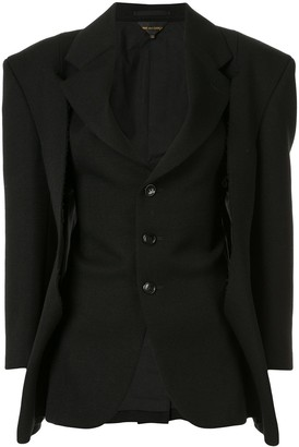 Comme des Garcons Distressed Single-Breasted Blazer