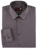Jf J.Ferrar Long Sleeve Woven Diamond Dress Shirt - Slim